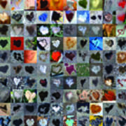 One Hundred And One Hearts Art Print by Boy Sees Hearts