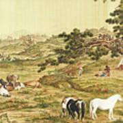 One Hundred Horses 5 Art Print