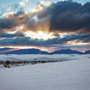 One More Moment - Sunburst Over White Sands New Mexico Art Print