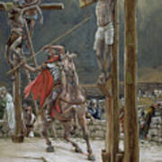 One Of The Soldiers With A Spear Pierced His Side Art Print by Tissot