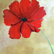 One Poppy Art Print