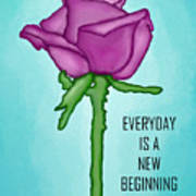 One Rose Everyday Art Print