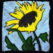 One Sunflower Art Print