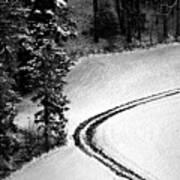 One Way - Winter In Switzerland Art Print