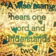 One Word Art Print