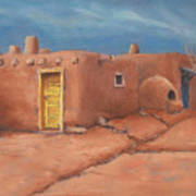 One Yellow Door Art Print by Jerry McElroy