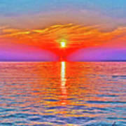 Oneida Lake Sunset Art Art Print