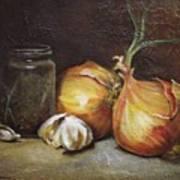Onions And Garlic  Art Print