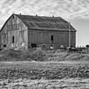 Ontario Farm 4 Bw Art Print