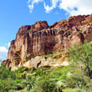 Onward And Upward At The Superstition Mountains Of Arizona Art Print