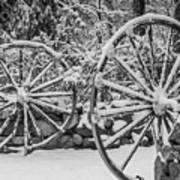Oo Wagon Wheels Black And White Art Print