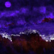 Oocean In The Moonlight  Art Print