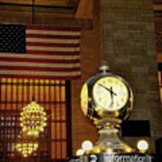 Opal Atomic Clock At Grand Central Art Print