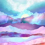 Opal Mountains Art Print