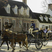 Open Carriage Ride In Colonial Williamsburg Virginia Art Print