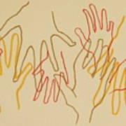 Open Hands Drawing Art Print