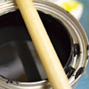 Open Paint Can With Brush Art Print