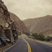 Open Road Through The Canyon Art Print