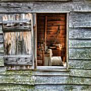 Open Window In Pioneer Home Art Print by Jill Battaglia