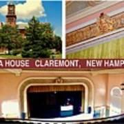 Opera House Claremont Nh Art Print