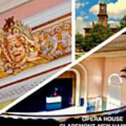 Opera House Diagonal Collage Art Print