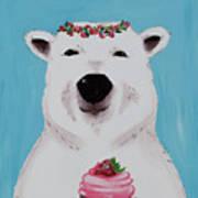 Ophelia The Polar Bear  Art Print