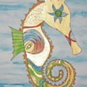 Ophelia The Seahorse Art Print