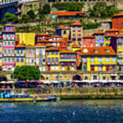 Oporto By The River Art Print