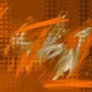 Orange Abstract Art - Orange Filter Art Print