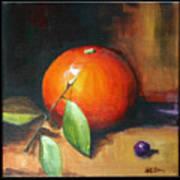 Orange And Purple Art Print by Pepe Romero