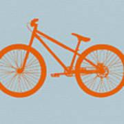 Orange Bicycle  Art Print by Naxart Studio