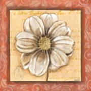 Orange Bohemian Dahlia 1 Art Print