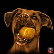 Orange Boxer Mix Dog Art - 8173 - Bb Art Print