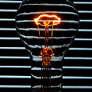 Orange Bulb Art Print