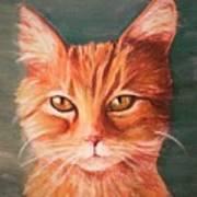 Orange Cat Art Print