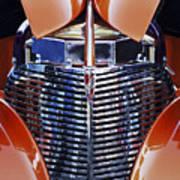 Orange Chevrolet Grille Art Print