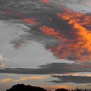 Orange Clouds Art Print