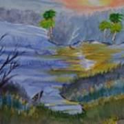 Orange Creek At Sunrise Art Print