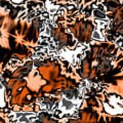 Orange Explosion Art Print
