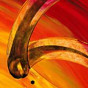 Orange Expressions Art Print