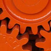 Orange Gear 2 Art Print