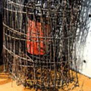 Orange In Wire Art Print