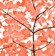 Orange Leaves Melody  Art Print