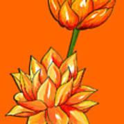 Lotus Flower Tattoo Design Inspired Watercolour Art Print