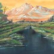 Orange Mountain Art Print