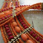 Orange Necklace Art Print