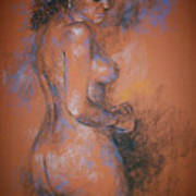 Orange Nude Art Print