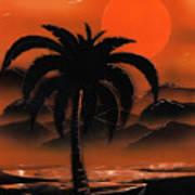 Orange Oasis Art Print