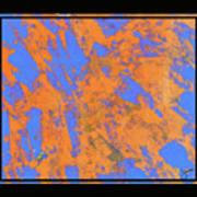 Orange On Blue Art Print
