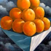 Orange Pyramid In Space Art Print